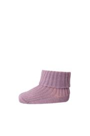 MP Denmark | Ankle Terry Rib Turn Down Wool | 4219 Grape Shake