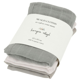 Konges Sløjd | Muslin Cloth  | 3 Pack | Lime Stone