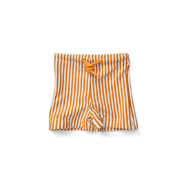 Liewood | Otto Swim Pants Seersucker | Stripe Mustard -  White