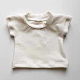 Poppenkleertjes | MBB020 | Creme basic shirtje