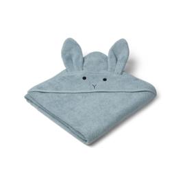 Liewood | Augusta Hooded Towel | Rabbit | Sea Blue