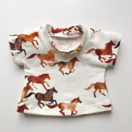 Poppenkleertjes | MBB015 | Paarden t-shirtje