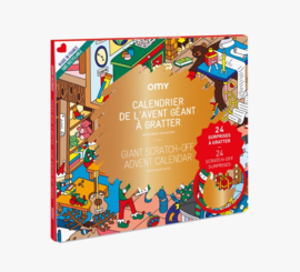OMY | Giant Coloring Poster | Scratch-Off Advent Calendar