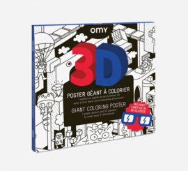 OMY | Giant Coloring Poster | Video games 3D