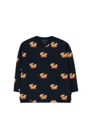 Tiny Cottons | Foxes Tee | Navy - Camel