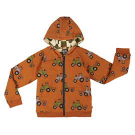 CarlijnQ | Tractor | Hoodie Lined with Checkers