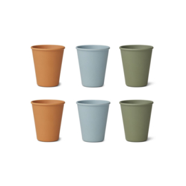 Liewood | Gertrud bamboo cup | Blue multi mix 6 pack