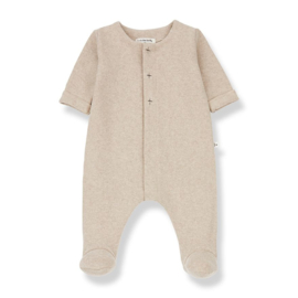1+ in the Family | Odette Jumpsuit with Feet | Cream