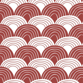 Swedish Linens | Rainbows Burgundy Red | 40x80 cm