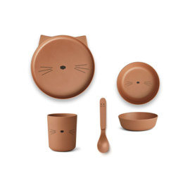 Liewood | Bamboo Box Set | Cat | Terracotta
