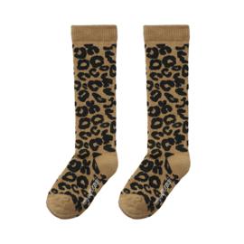 Maed for Mini | Knee Socks | Brown Leopard