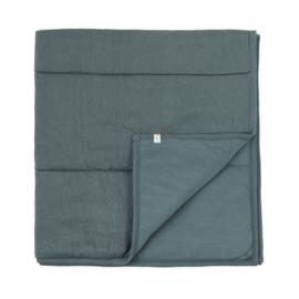 Phil & Phae   Padded baby Blanket   Blue