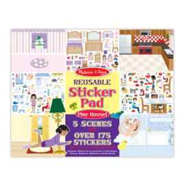 Melissa & Doug I Stickerboek met herbruikbare stickers I Speelhuis