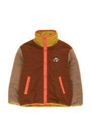 Tiny Cottons | Color Block Polar Jacket | Sienna - Tan