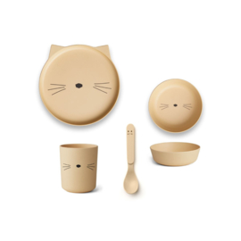 Liewood | Bamboo Box Set | Cat | Smoothie Yellow
