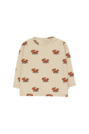 Tiny Cottons | Foxes Tee | Cream - Brown