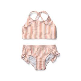 Liewood | Juliet Bikini Seersucker | Stripe Coral Blush - Creme De La Creme