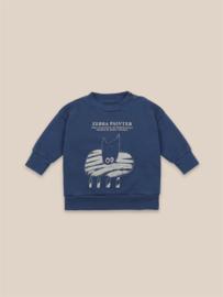 BoboChoses | Zebra Painter Sweatshirt | Blue Indigo