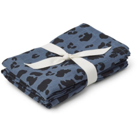 Liewood | Hannah Muslin Cloth | Leo Blue Wave