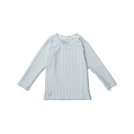Liewood | Noah Swim Tee Seersucker | Stripe Sea Blue -  White