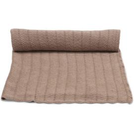 Konges Sløjd | Blanket | Pointelle Deux | Brown Melange