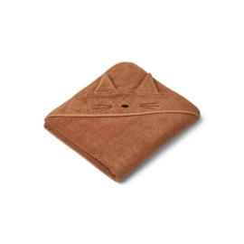 Liewood | Augusta Hooded Towel | Cat | Terracotta