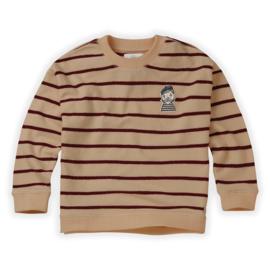 Sproet & Sprout   Sweatshirt Loose Stripe   Nougat