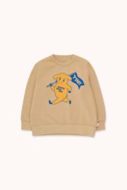 Tiny Cottons | Dog Sweatshirt | Cappuccino - Yellow