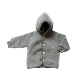 Engel Natur | Hooded Jacket | Light Grey Mélange