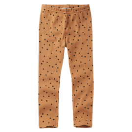 Mingo | Rib Legging | Dots Caramel