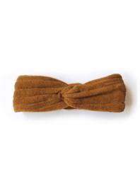 Phil & Phae | Striped Frotté Headband | Antique Brass