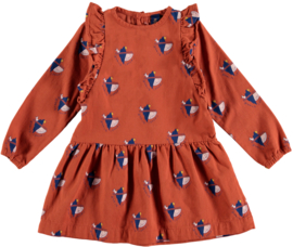 Bonmot | Dress Frilles World Lovers | Rust