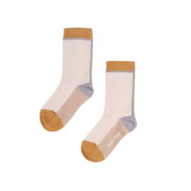 Phil & Phae | Colour Block Socks | Shell
