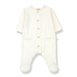 1+ in the Family | Alizee Jumpsuit with Feet | Ecru