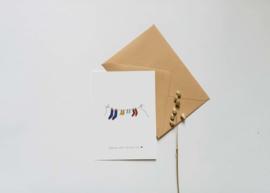 Kaart | Nadine Illustraties | Hoera een broertje