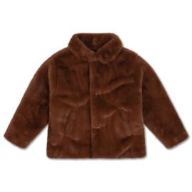 Repose Ams | Boxy Collar Coat | Warm Chestnut