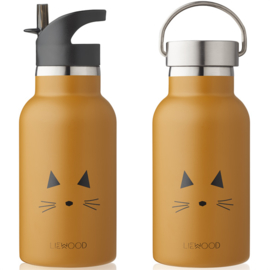 Liewood | Anker Water Bottle | Cat Mustard