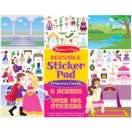 Melissa & Doug I Stickerboek met herbruikbare stickers I Prinsessenkasteel