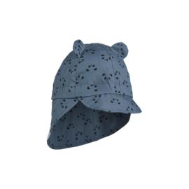 Liewood   Gram Sun Hat   Panda Blue Wave