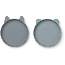 Liewood | Olivia Plate - 2 Pack | Blue Mix