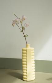 Foekje Fleur   Porcelain Bottle Vase #10   Fresh Yellow