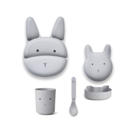 Liewood | Bamboo Box Junior Set  | Rabbit | Dumbo Grey
