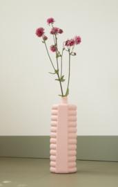 Foekje Fleur   Porcelain Bottle Vase #10   Pink