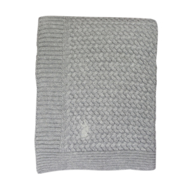 Mies & Co   Soft Knitted Blanket Cradle   Soft Grey