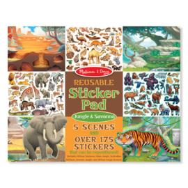 Melissa & Doug I Stickerboek met herbruikbare stickers I Jungle & Savanne