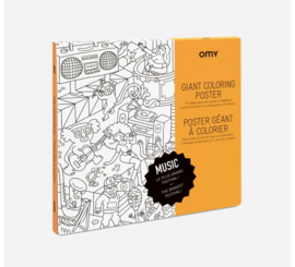 OMY | Giant Coloring Poster | Music
