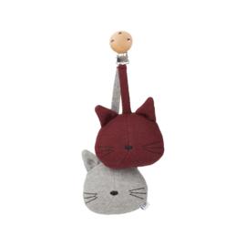 Liewood I Rosa Pram Toy I Cat grey melange