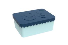 Blafre Lunchbox 'Tractor' dark blue