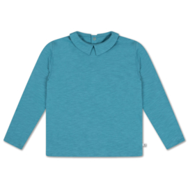 Repose Ams   T-Shirt with Collar   Dusty Storm Blue