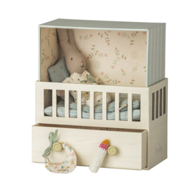 Maileg | Baby Room Blue with Micro Rabbit